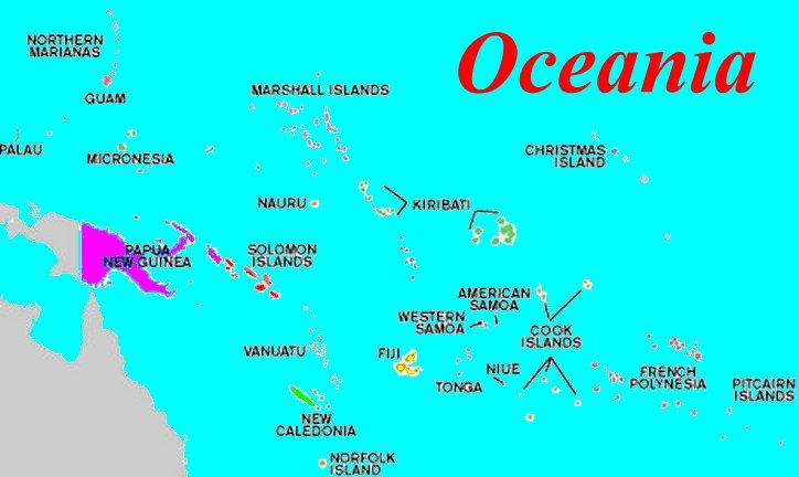Australia Map / Oceania Map / Map of Australia / Map of Oceania